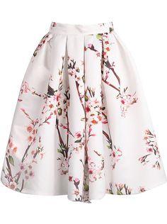 full floral pleated skirt (under $25)