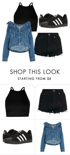 """""""Untitled #96"""" by halissiaelviracra on Polyvore featuring Boohoo, adidas and Balenciaga"""