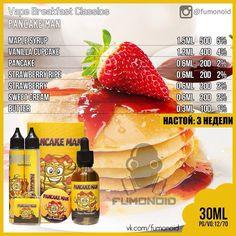 Vape Breakfast Classics (Pancake Man) - маслянистый ванильный кекс и блинчики с послевкусием сочной клубники и кленового сиропа