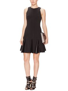 Faux Leather Contrast Dress from Dress Shop: Work Dresses on Gilt