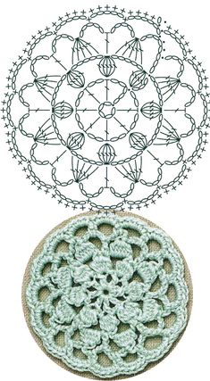 No.33 Chrysanthemum Medallion Lace Crochet Motifs / 국화꽃 모티브도안