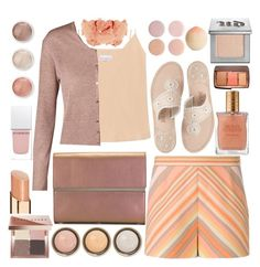"""""""Top Fashion Set 10MAY2016. Peach Echo, Rose Quartz & Lilac Grey 2016 Colors"""" by mrs-rc ❤ liked on Polyvore featuring Raey, Valentino, Jack Rogers, ESCADA, Maison Margiela, Bobbi Brown Cosmetics, Terre Mère, Givenchy, By Terry and Urban Decay"""
