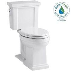 KOHLER, Tresham Comfort Height 2-piece 1.28 GPF Elongated Toilet with AquaPiston Flush Technology in White, K-3950-0 at The Home Depot - Mobile
