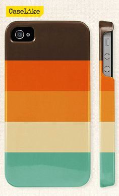 3D #iPhone 5 #Case  #Unique Teal And Orange #Stripes by #caselike, $22.00