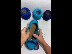Mocassim de Crochê - Exclusividade Mari Crochê - YouTube