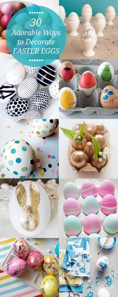 30 Gorgeous and Creative Ways to Decorate #Easter #Eggs - Momtastic