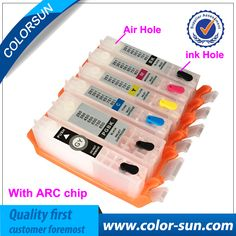 6pcs for Canon PGI-450 CLI-451 PGI450 Refillable Ink Cartridge For Canon PIXMA MG6340 MG7140 Printer with ARC Chips