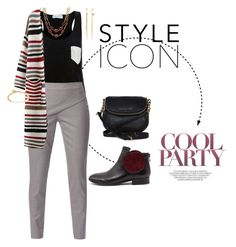"""""""Style icon. Striped cardi and pocket top"""" by momma2theking on Polyvore featuring Solid & Striped, WtR London, Django & Juliette, Talbots, Lydell NYC, Michael Kors and Astley Clarke"""