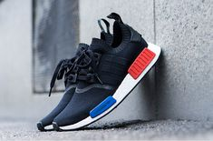 adidas NMD Primeknit OG Black Release Date. The first ever adidas NMD is releasing again in January The adidas NMD Primeknit OG in Black, White Nmd Sneakers, Sneakers Mode, Sneakers Fashion, Fashion Shoes, Mens Fashion, Blue Sneakers, Adidas Nmds, Adidas Shoes, Adidas Women