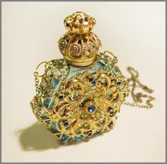 vintage perfume bottles | Vintage Perfume Bottle Czech Baroque Blue by RalucaElf on Etsy