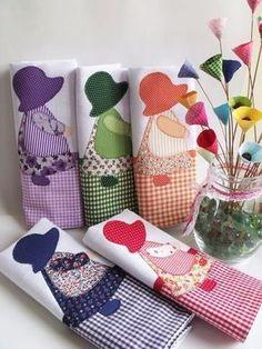 Tips for Those Beginning to Crochet Applique Patterns, Applique Quilts, Applique Designs, Quilt Patterns, Sewing Patterns, Quilting Projects, Sewing Projects, Towel Crafts, Sunbonnet Sue