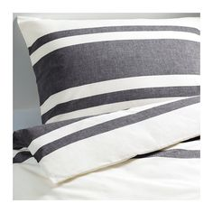 IKEA - BJÖRNLOKA, Duvet cover and pillowcase(s), Full/Queen (Double/Queen), , Yarn-dyed; the yarn is dyed before weaving; gives the bedlinens a soft feel.</t><t>Extra soft and durable quality since the bedlinen is densely woven from fine yarn.</t><t>Decorative buttons keep the comforter in place.