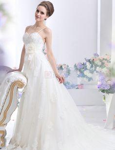 ❀ A-Line Sweetheart Tulle Beading Wedding Dresses | Riccol ❤