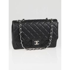 Chanel Jumbo Classic Flap Bag Black Caviar with Silver Hardware...Need this.
