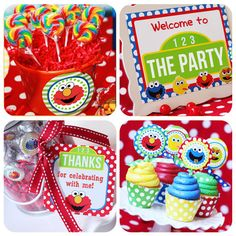Sesame Street Party Printables - Elmo Party - UNPERSONALIZED Instant Download - Huge Birthday Party Set by Amanda's Parties TO GO on Etsy, $17.00