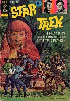 Vintage Gold Key - Star Trek - collectible comic book cover art #startrek #LLAP #kurttasche