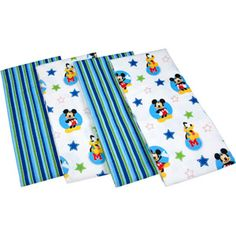 Disney Baby Mickey Mouse Best Friends Flannels, Set of 4