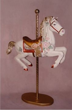 """Glory"" Carousel Horse Photo Prop"