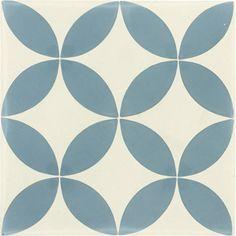 Décor en carreaux de ciment bleu, 20x20 cm | Leroy Merlin                                                                                                                                                                                 Plus
