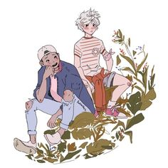"'""Gon & Killua""' by Bellwethers Art And Illustration, Illustrations, Character Illustration, Pretty Art, Cute Art, Anime Kunst, Anime Art, O Cowboy, Character Art"