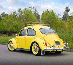 yellow vw beetle - Google Search