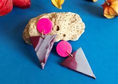 Cyntia rosa, pendientes orignales, geométricos y ligeros de Garre Design. Plastic Cutting Board, Design, Blog, Decor, Pink, Earrings Handmade, Ligers, Handmade Gifts, Hand Made