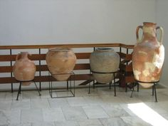 Ancient Roman ceramic vessels on display in the Pavlikeni Museum of History, Pavlikeni, Northern Bulgaria. Photo: Pavlikeni Museum of History