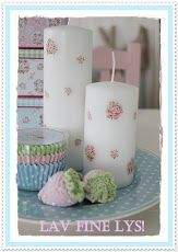 #shabby #rose scattered #candles