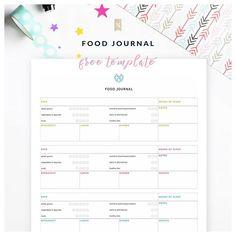 Weekly Health Tracker Printable, Food Tracker, Sleep