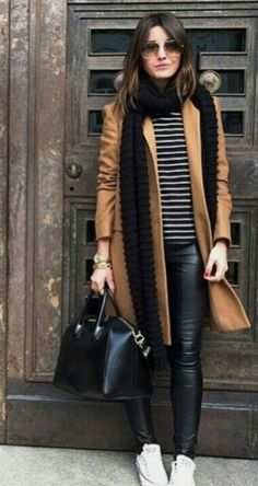 Trendy Ideas For Clothes Outfits Ideas Leather Leggings Source by outfits invierno 2019 Winter Fashion Outfits, Fall Winter Outfits, Look Fashion, Autumn Winter Fashion, Spring Outfits, Womens Fashion, Fashion Trends, Fall Fashion, Fashion Coat