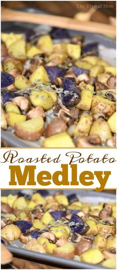 Easy potato medley recipe that's a perfect healthy side dish to go with just about anything. It's so pretty too! Great with chicken and fish. via @thetypicalmom