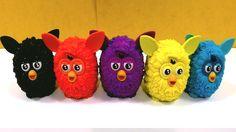 Coleção 05 Mini Figuras Furby Boom Hasbro de Várias Cores