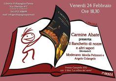 """Parma, presentazione del libro di Carmine Abate """"Il banchetto di nozze e altri sapori"""""""