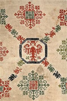 View | Search the collections | The historical Museum - 15th Century Cross Stitch