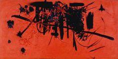 George Mathieu: Hommage au maréchal de turenne (1952) Qui l'artista usa le macchie come parte integrante del dipinto