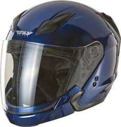 d8b17f3aeaab8 fly racing turistico modular casco de motocicleta azul todos los tamanos