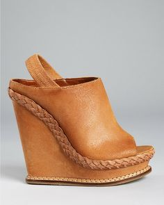 Brown leather made fall wedges fashion. . click on pic to see more