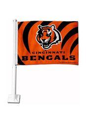 Cincinnati Bengals 11x14 Orange Nylon Car Flag
