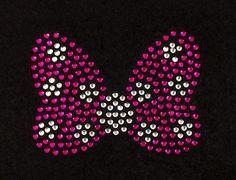 Minnie Mouse Bow Rhinestone Motif Design Girls Tshirt Minnie