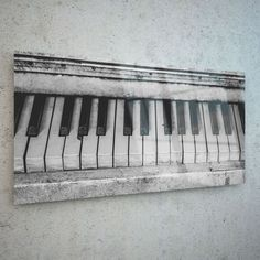 Wall Art Glass Print Canvas Picture Large Piano Keyboard New p159420 100x50cm