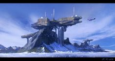 Jakub Javora is a matte painter and concept artist working in the film and commercial industry. Jakub is currently working as a Concept Artist for concept art studio, Volta. Space Fantasy, Sci Fi Fantasy, Landscape Concept, Fantasy Landscape, Futuristic Art, Futuristic Architecture, Games Design, Concept Art World, Gaia