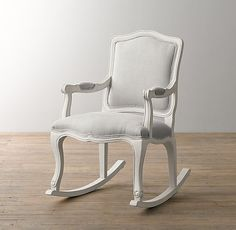 French Vintage Upholstered Rocker I Have To Get This For Giannau0027s Nursery!!!