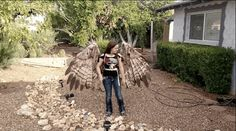 Artist Alexis Noriega of The Crooked Feather Builds Articulating Pneumatic Wings Fit for a Human - My Modern Met