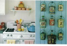 using vintage biscuit tins