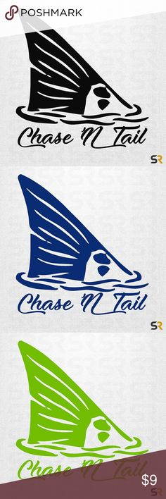 "Red fish tail sticker fishing decals set of 2 Chase'N Tails red fish tail decal   ✬  MATERIAL:: Oracal 651 premium vinyl will last 7 plus years.   ✬ I make these at my professional decal shop that I work at with my team full time, we are open 6 days.   ✬ SIZE::  5""  ✬QTY: 2   ✬ COLOR:: Black - 20 color choices - see listing photo and leave note at checkout with your choice or message me.    ✬ PRODUCT DETAILS::  Die cut vinyl decal comes as one solid piece on clear transfer tape for easy…"
