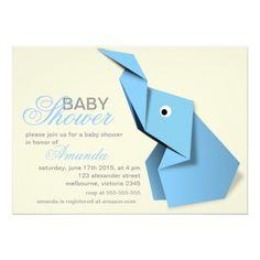 Baby shower #blue #elephant #cute #origami