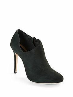 BLACK Saks Fifth Avenue Brinda Suede Ankle Boots