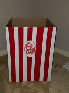 DIY Giant popcorn box and other movie themed party decorations! DIY Giant popcorn box and other movi Movie Party Decorations, Popcorn Decorations, Movie Decor, Circus Decorations, Movie Themes, Party Themes, Party Ideas, Hollywood Birthday Parties, Hollywood Theme