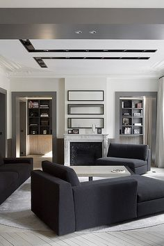 Contrast ceiling detail with recessed lighting.