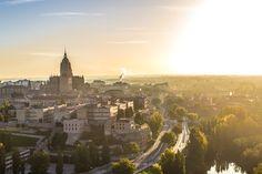 Vuelo en globlo en Salamanca: 10 fotografías desde el aire